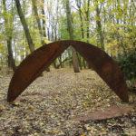 (34) Cyril Lixenberg, Doorloop-constructie I & II, 1991, cortenstaal, 250 x 500 x 500 cm